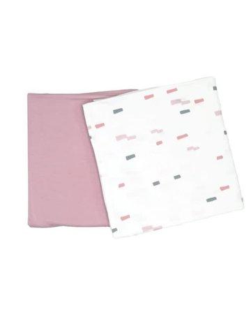 GooseWaddle Brick & Lavender Swaddle Blanket 2 pack