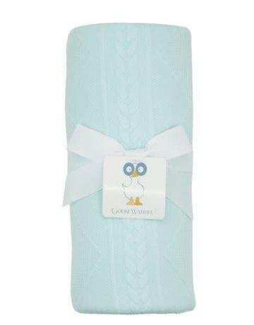 "GooseWaddle Mint Knit Blanket 30""x40"""