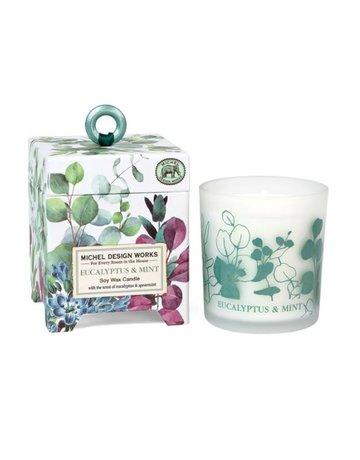 Michel Design Works Eucalyptus & Mint 6.5oz Soy Wax Candle