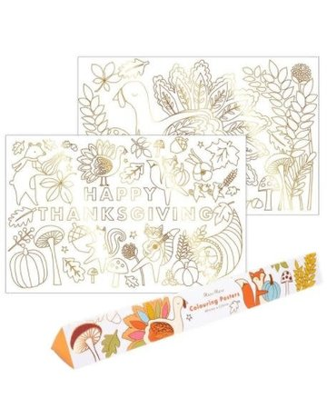 Meri Meri Thanksgiving Colouring Posters