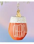 Wine Cheers Shaped Ornament