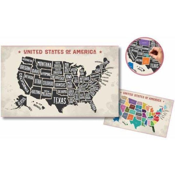 Scratch-off USA Map - MaGifts