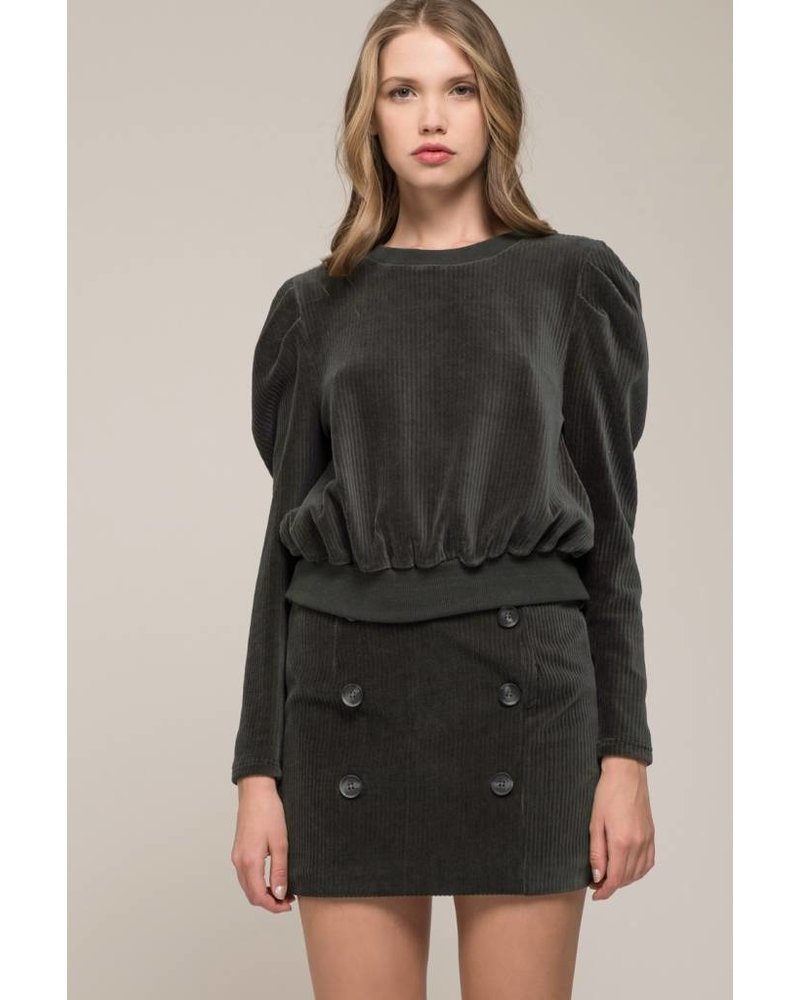 Moon River Pine Knit Top