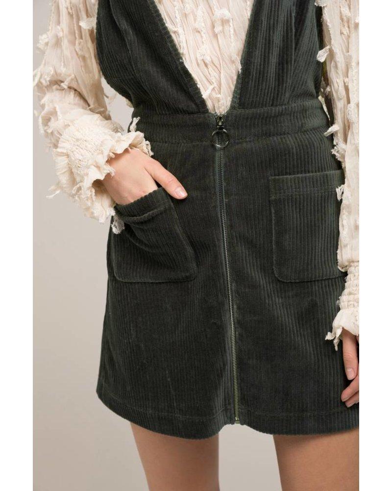 Moon River Pine Overall Dress