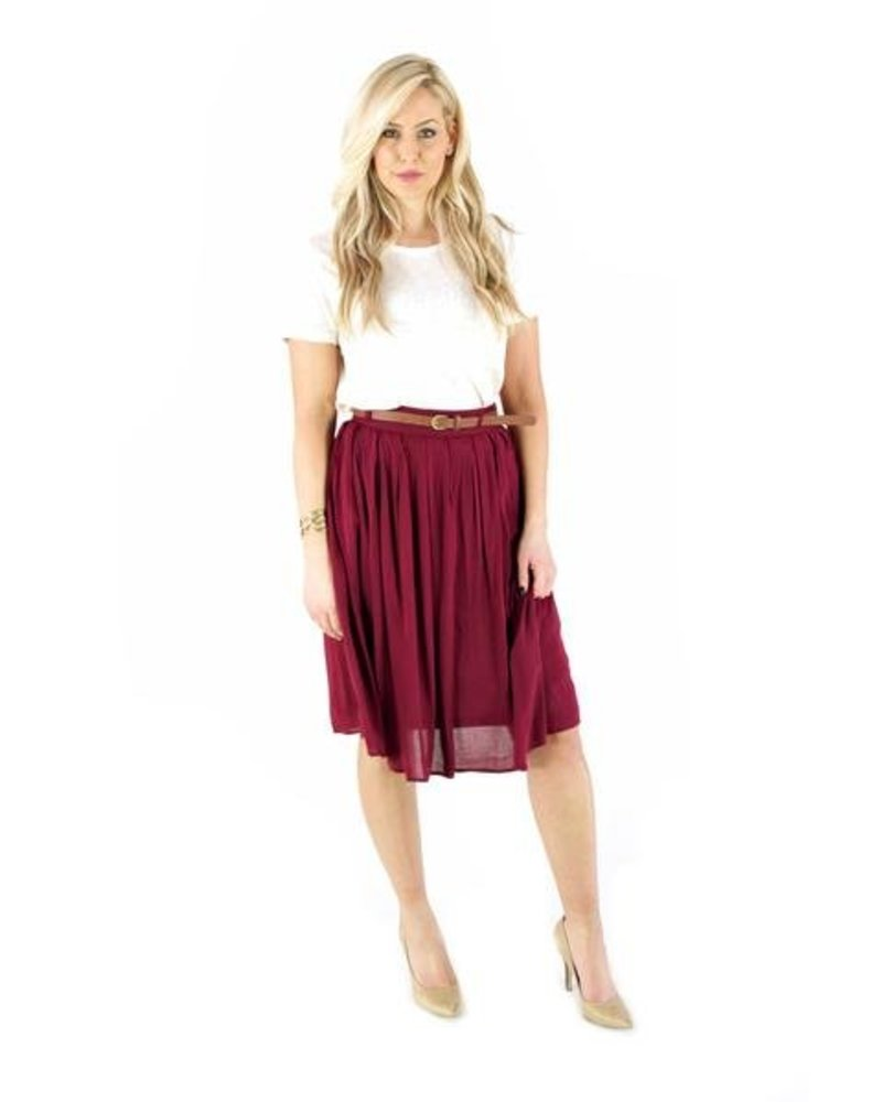 Berry Me Pleat Skirt