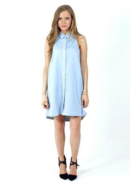 Denim Collared Dresss