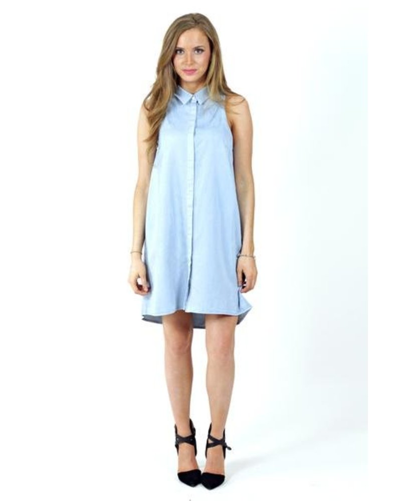 Denim Collared Dresss
