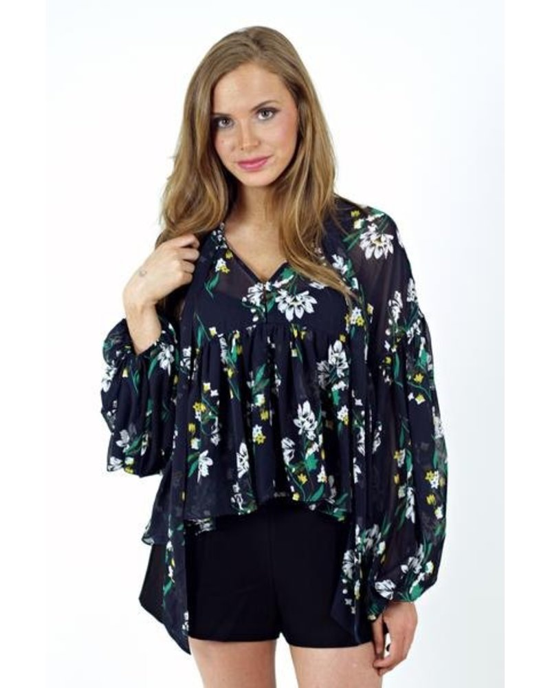 Midnight Meadow Blouse
