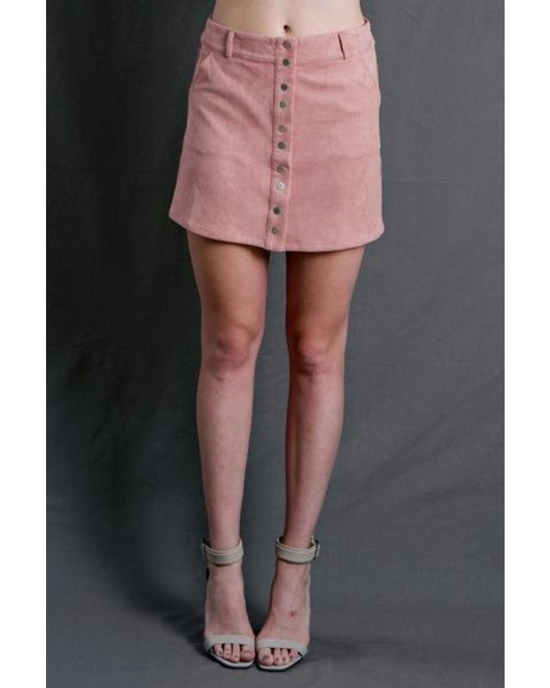 Muave Suede Skirt