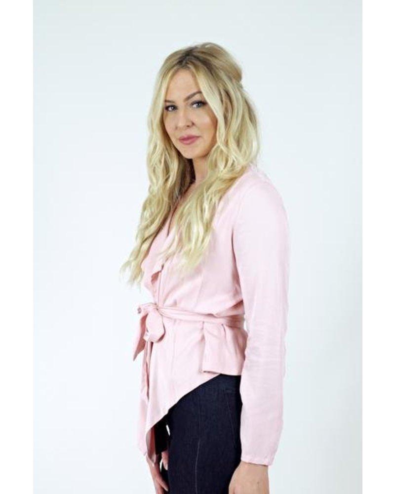 Pink Cutout Blazer