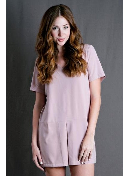 Pink Vneck Tunic