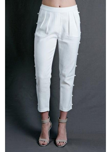 White Pearl Trousers