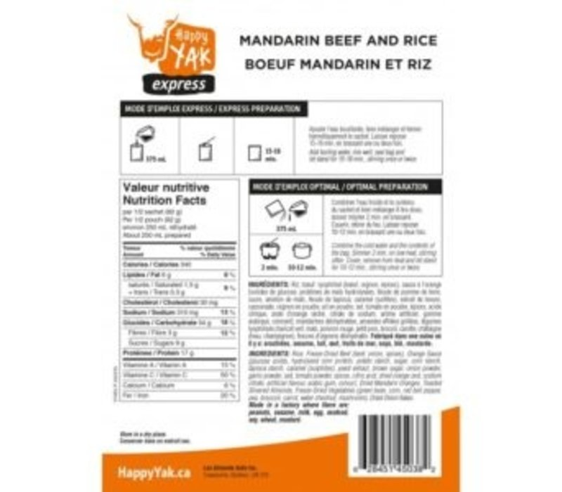 Express Mandarin Beef and Rice