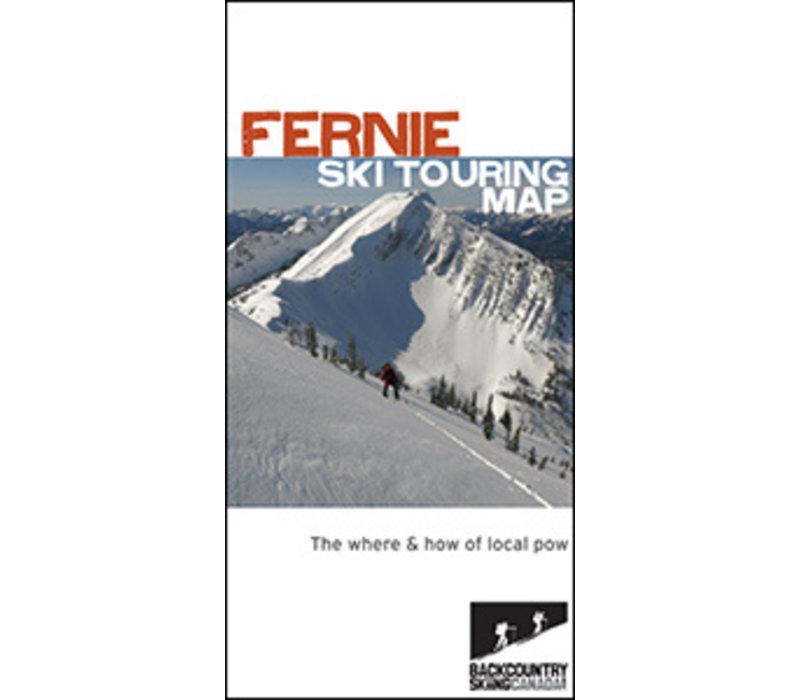 Fernie Ski Touring Map