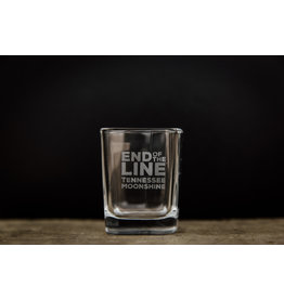 Shot Glass - Etched - End of the Line
