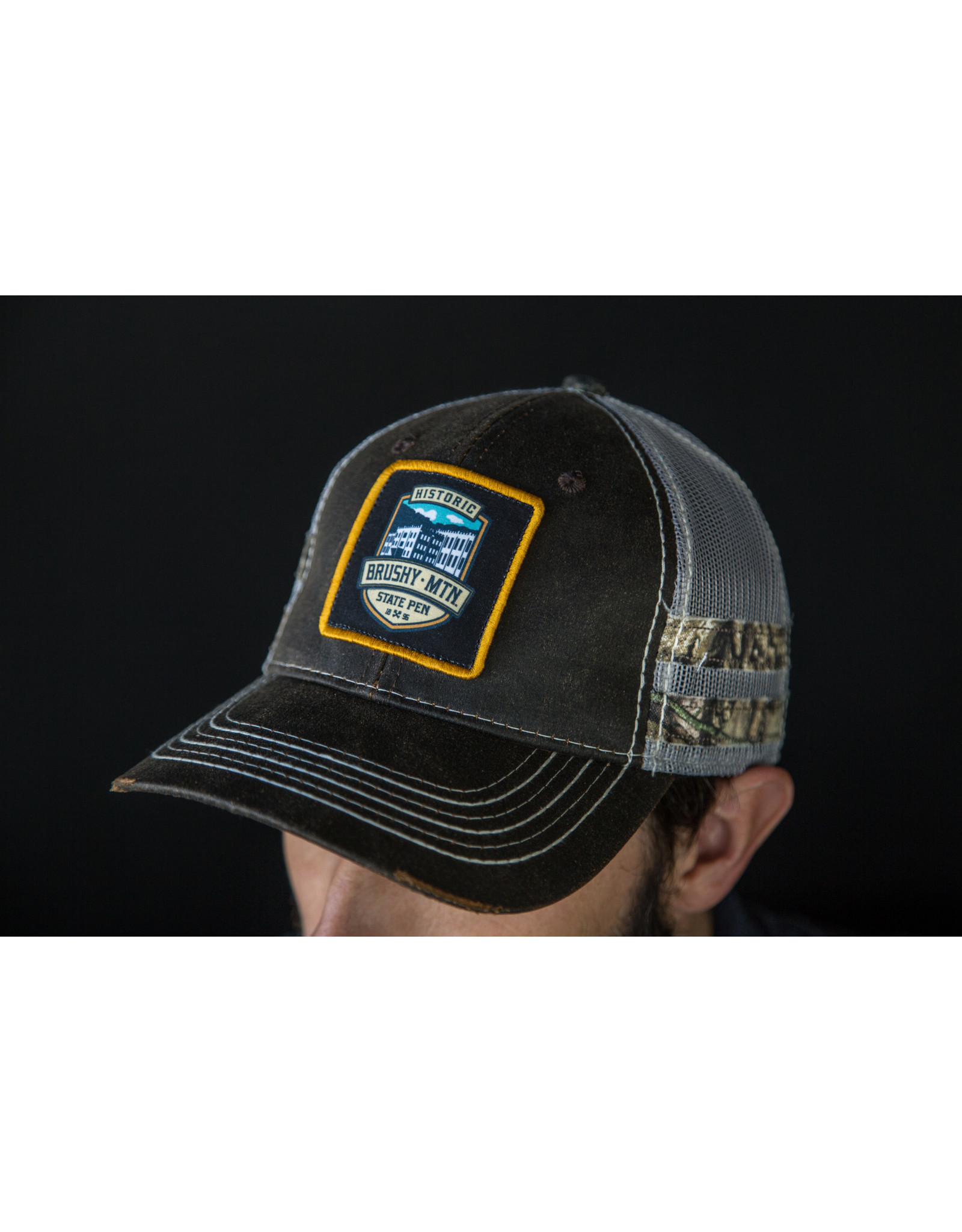 Outdoor Cap Camo/Lt. Gray/Brown Hat with Patch