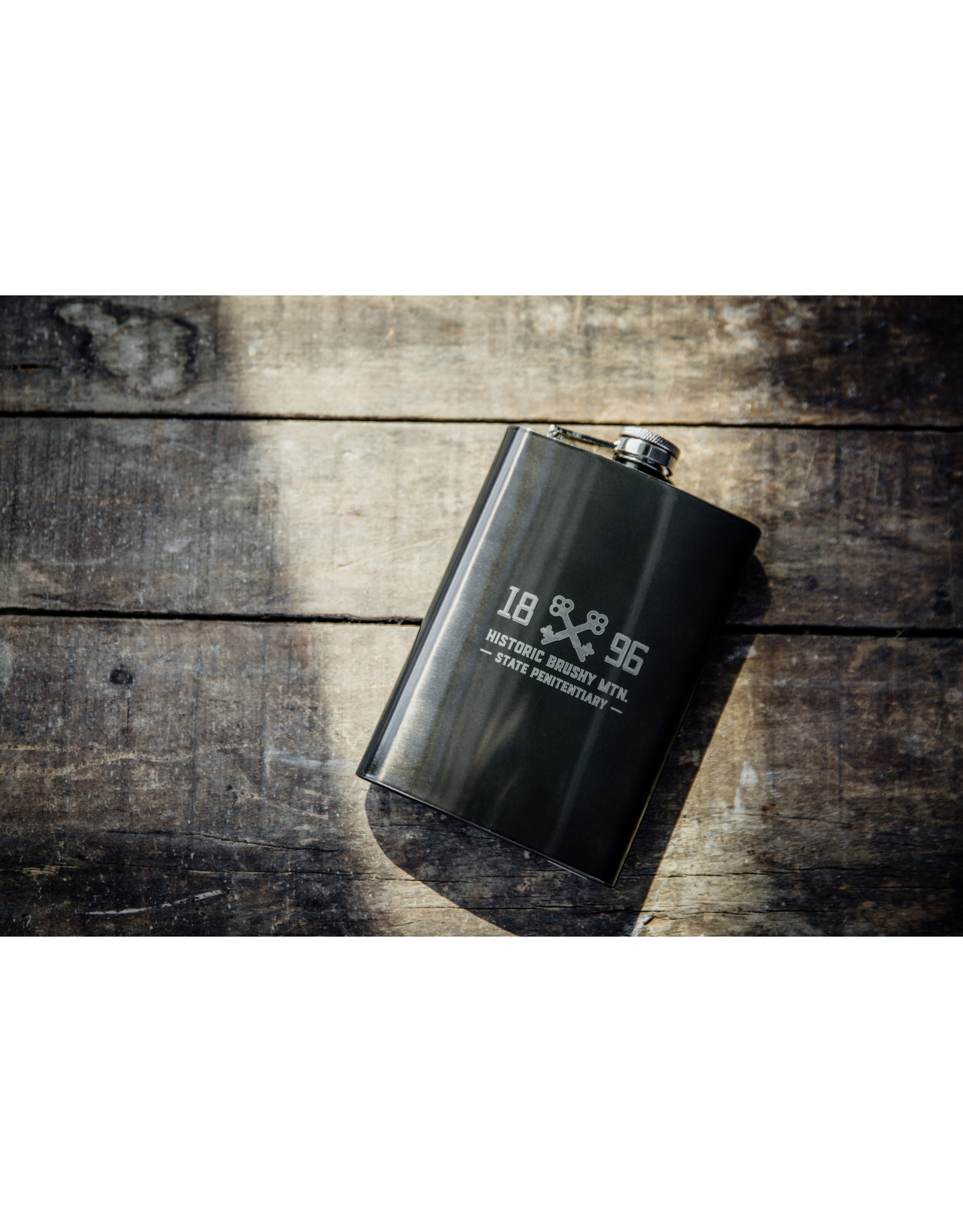 Graphite Black 8 oz Flask