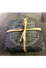 Etched Coaster Slate Coaster Set - Shield