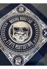 Skull Bandana Brushy - Motorcycle Skull Bandana