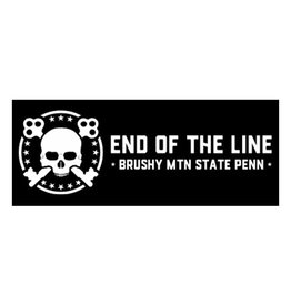 Black End of the Line Helmet Sticker End of the Line - Helmet Sticker