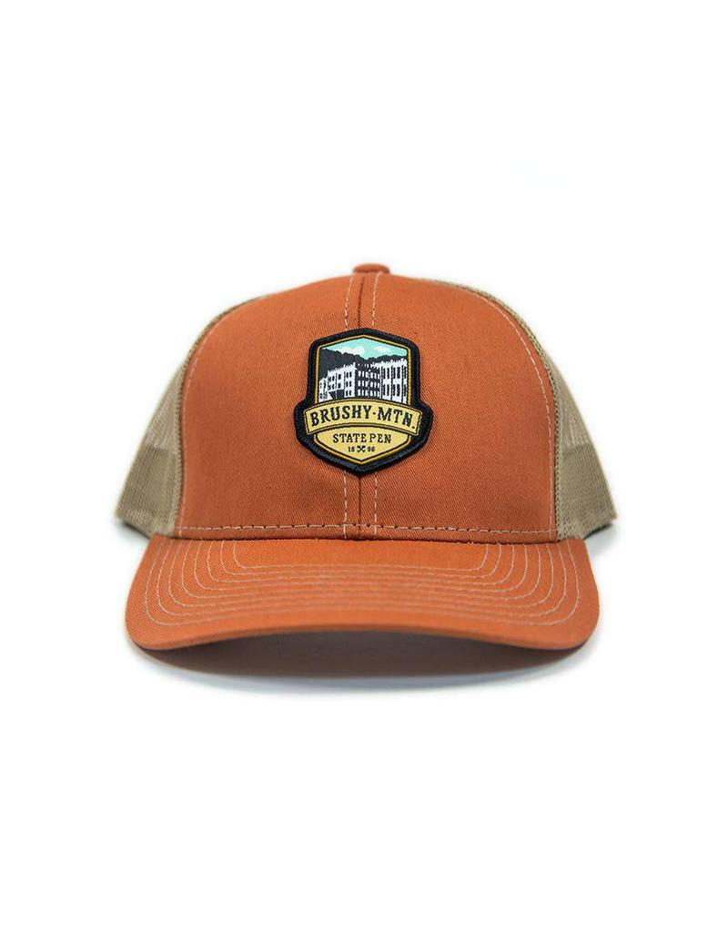 9dd6ed62b8a71f Brushy Logo Mesh Hat - Brushy Mountain State Penitentiary