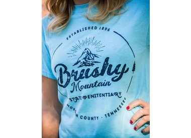 Brushy T-Shirt - Antique Mtn Logo