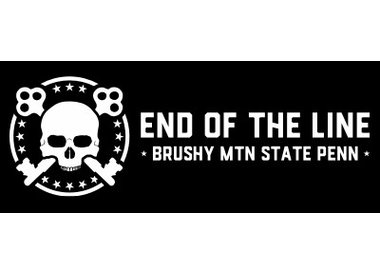 Black End of the Line Helmet Sticker