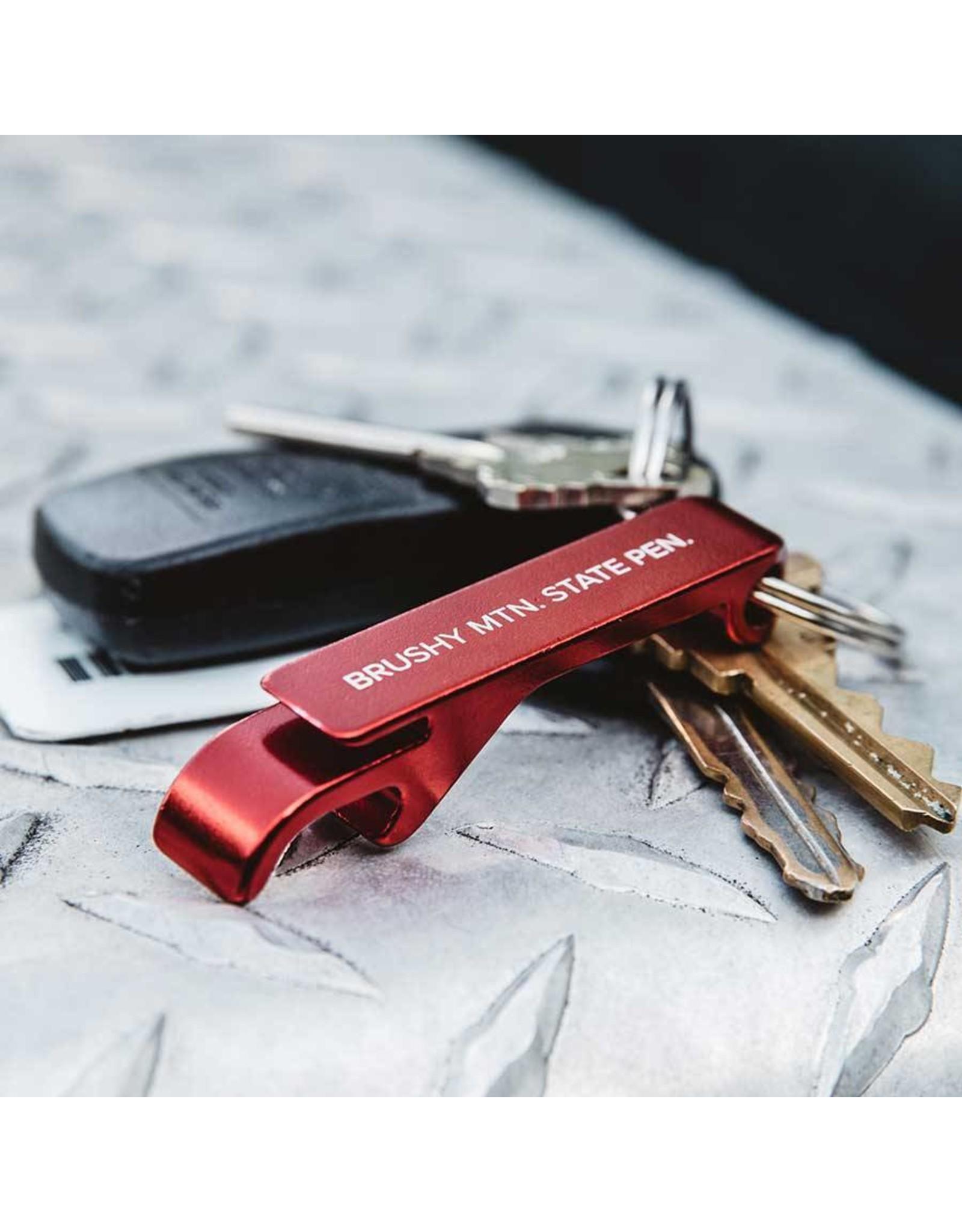 Historic Brushy Aluminum Bottle Opener Key Chain Brushy Key Chain Bottle Opener