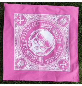 Pink Skull Bandana Brushy - Motorcycle Skull Bandana Pink