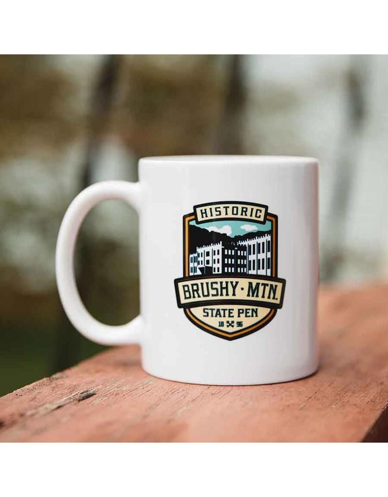 Brushy Logo Mug - White Brushy Logo Coffee Mug