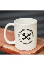 Brushy Logo Mug - White Circle Keys Logo Coffee Mug