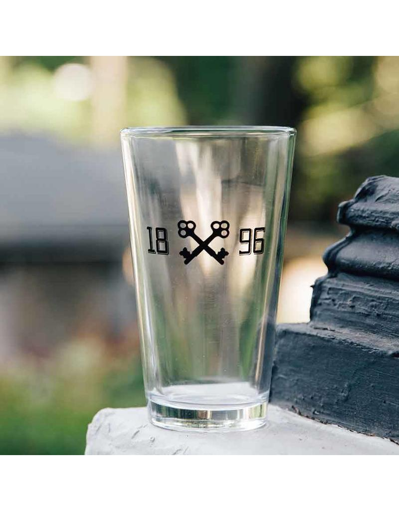 brushy keys pint glass Brushy Keys Pint Glass