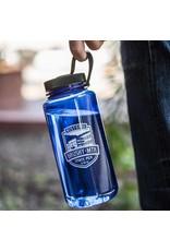 Black Water Bottle Brushy Shield Water Bottle - 30oz / Blue