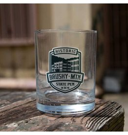 Ad Specialties Aristocrat Shield Rocks Glass - Brushy Logo