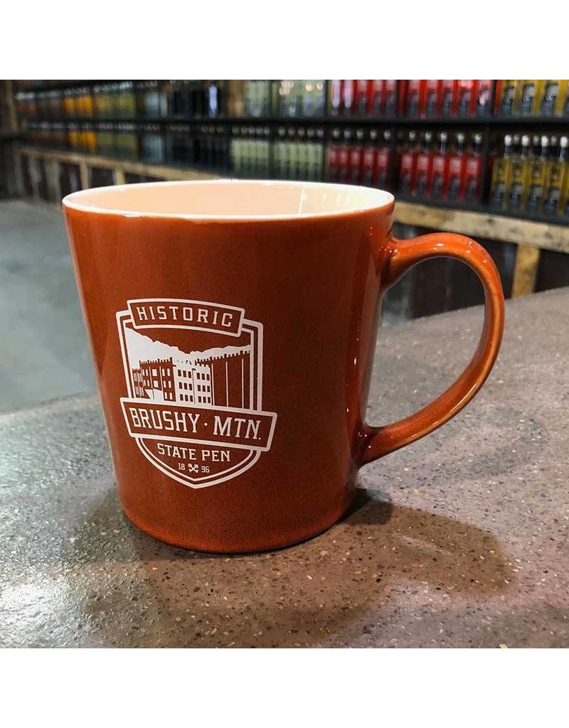 1896 Mona Coffee Mug Brushy Logo Mona Coffee Mug - Orange