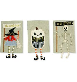 Mud Pie Skeleton Dangle Leg Towel