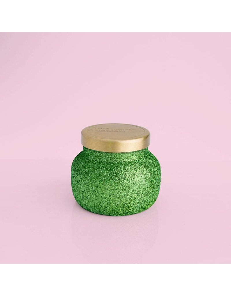 Capri Blue 8oz Glam Green Glitter Alpine Juniper