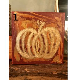 Kris Marks Kris Marks 6 x 6 Pumpkin Painting 1