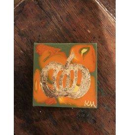 Kris Marks Kris Marks 4 x 4 Pumpkin Painting Green