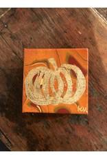Kris Marks Kris Marks 4 x 4 Pumpkin Painting Orange