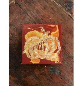 Kris Marks Kris Marks 4 x 4 Pumpkin Painting Red