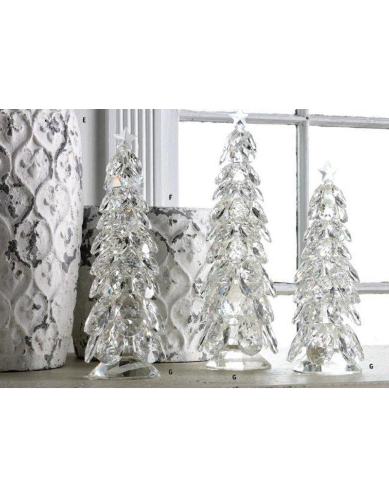 K & K Interiors Medium Crystal Tear Drop Christmas Tree w/ Star