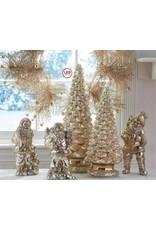 "K & K Interiors 20.5"" Battery Operated LED Mercury Glass Christmas Tree"