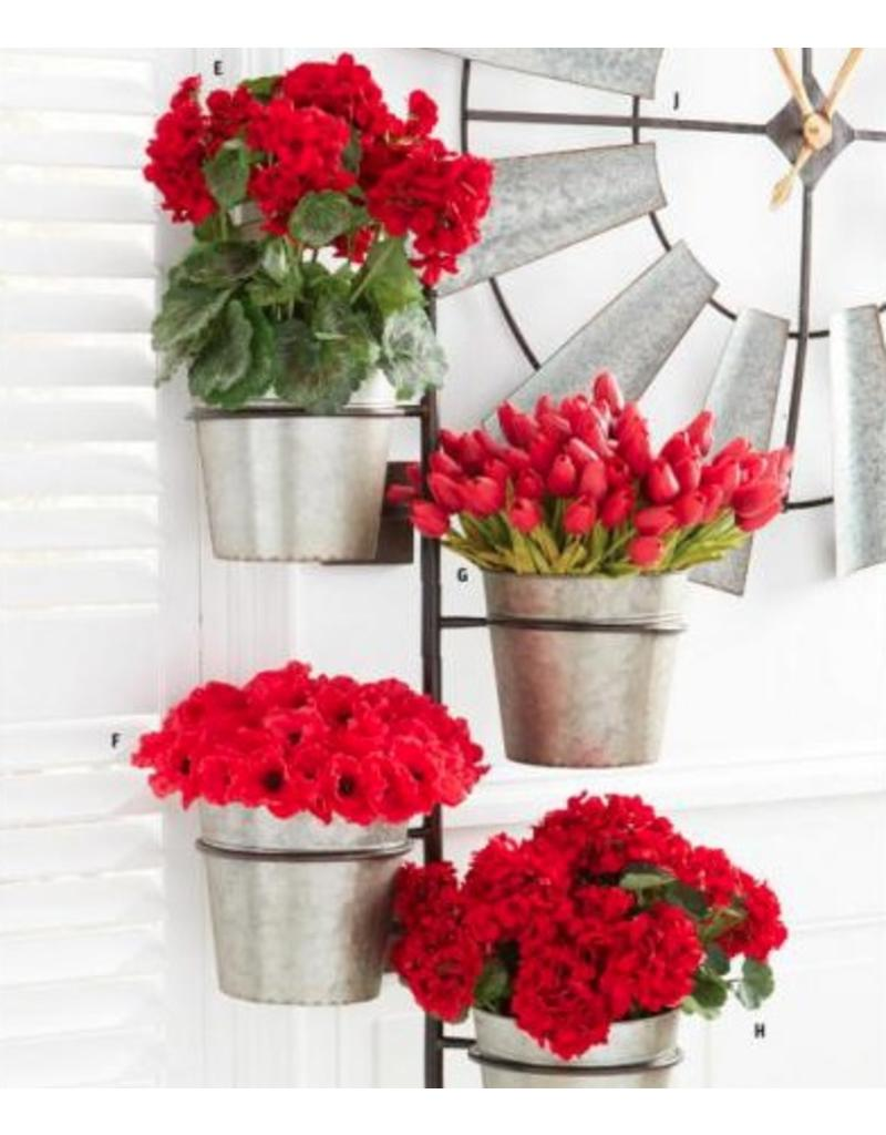 "K & K Interiors 10.5"" Red Real Touch Mini Tulip Stem"