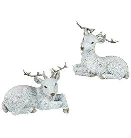 A&B Floral Laying Deer w/ Antler