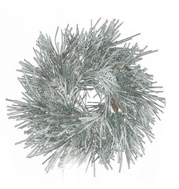 """A&B Floral 33"""" Snowed Mixed Pine Wreath Green w/ Cones"""