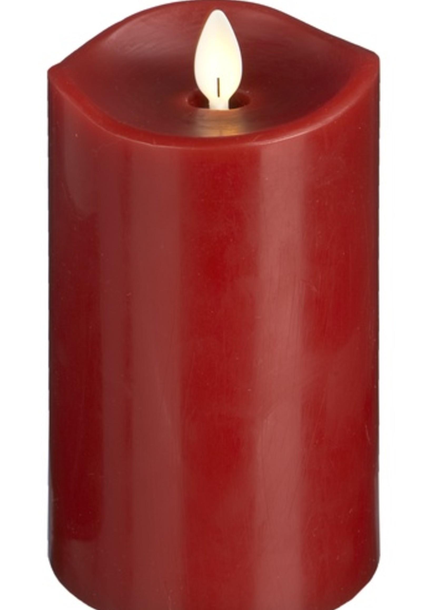 Ganz Red LED Wax Pillar Candle 3 x 6