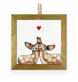 Greenbox Art Fawn Love Framed Art Ornament
