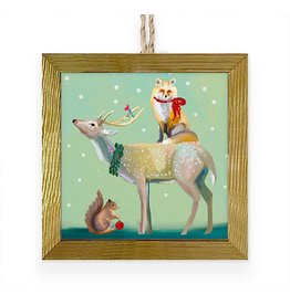 Greenbox Art Wondrous Buck, Fox & Squirrel Framed Art Ornament