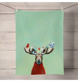 Greenbox Art Moose in Sweater Tea Towel